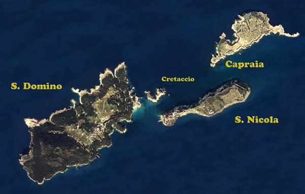 L'arcipelago visto dall'alto