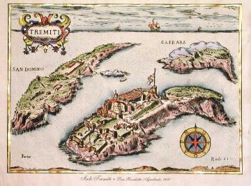 Mappa del '600 dell'arcipelago tremiti