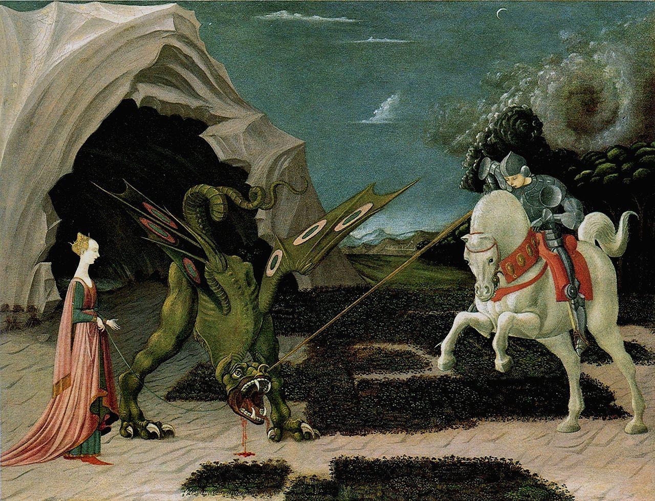 San Giorgio e il Drago - dipinto di Paolo Uccello