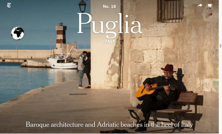 La Puglia tra i 52 posti da visitare nel 2019 secondo il New York Times
