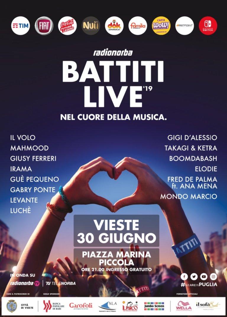 Battiti Live a Vieste, tutti gli artisti