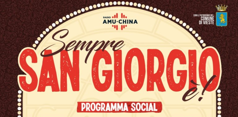 """San Giorgio 2020 con Radio Amuchina:  """"Sempre San Giorgio è!"""""""